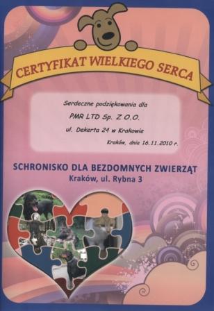 Support for Krakow Animal Shelter